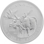 "Royal Canadian Mint 2012 ""Moose"" Silver Bullion Coins"