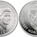 Silver Coin Marks 75th Birthday of King and Queen of Norway
