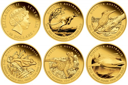 Perth Mint Launches 2012 Discover Australia Gold Proof Coins
