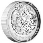 2012 High Relief Year of the Dragon Proof Silver Coin