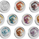 Perth Mint 2012 Year of the Dragon Silver 10 Coin Set