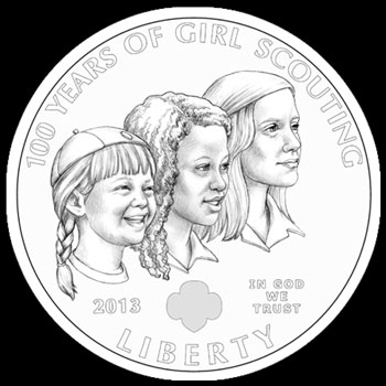 Girl Scouts Silver Dollar Obverse
