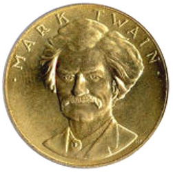Mark Twain Gold coin