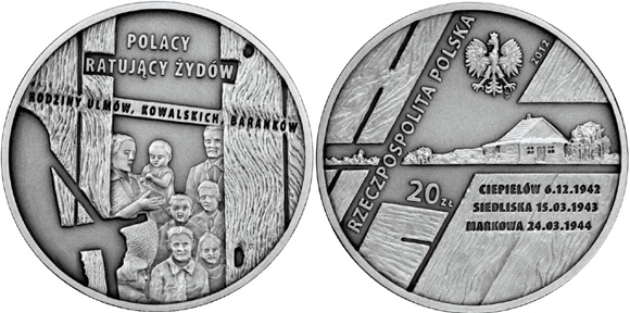 Poles Saving Jews Commemorative Coin