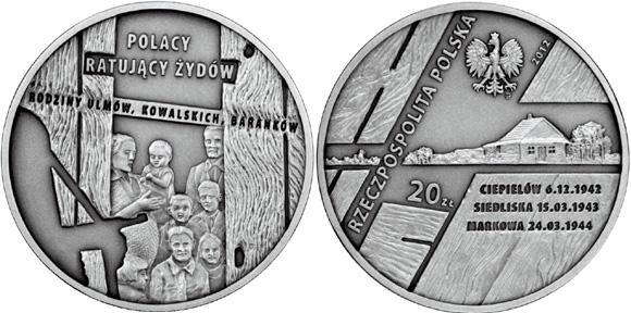 Poles Saving Jews Commemorative Coin