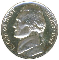 Proof Jefferson Nickel