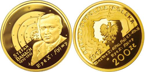 Stefan Banach Gold coin