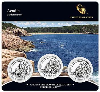 Acadia National Park Quarter Coin Set