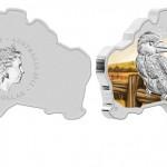 Australian Map Shaped Silver Kookaburra Coin Released