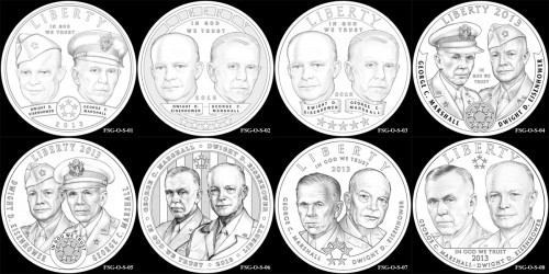 CCAC Reviews 5-Star Generals Commemorative Coin Designs