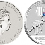 Silver Coin Marks 40 Year of Friendship Between China and Australia