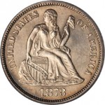 Unique 1873-CC No Arrows Seated Liberty Dime Sells for $1.84 Million