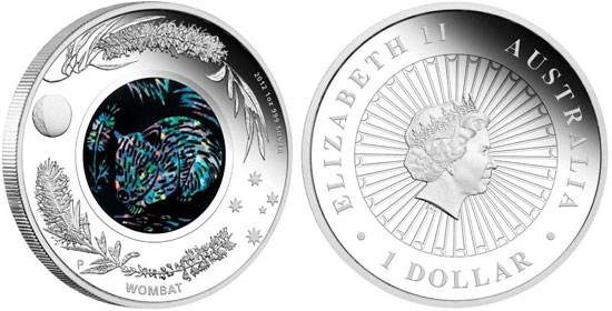 Australian Opal Series 2012 Wombat Silver Proof Coin
