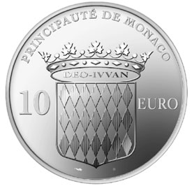 The reverse of the new 10 Euro piece – If you want to see the obverse, come to the Grande Bourse of Monaco.
