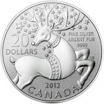 """2012 Magical Reindeer """"$20 For $20"""" Silver Coin"""
