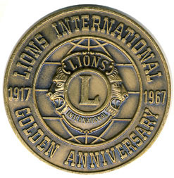 Lions Clubs International Golden Anniversary Medallion