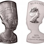 Bust of Nefertiti Silver Coin Marks Centennial of Archaeological Find