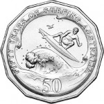 50th Anniversary of Surfing Australia Celebrated on New Coin