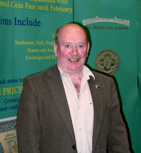 Michael Kelly, organizer of the Irish International coin fair & Dublin Coin Auctions.