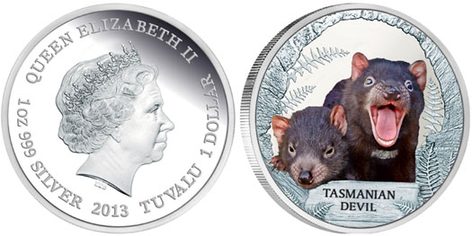 Tasmanian Devil Silver Proof Coin