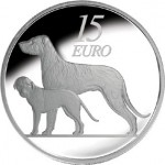 """Irish Wolfhound Featured on Final """"Animal"""" €15 Silver Proof Coin"""