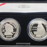 2000 Leif Ericson Millennium Commemorative Two Coin Set