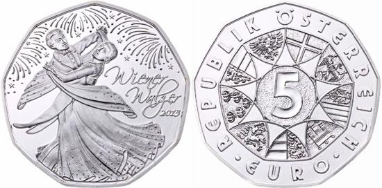 2013 Viennese Waltz 5 Euro Coin