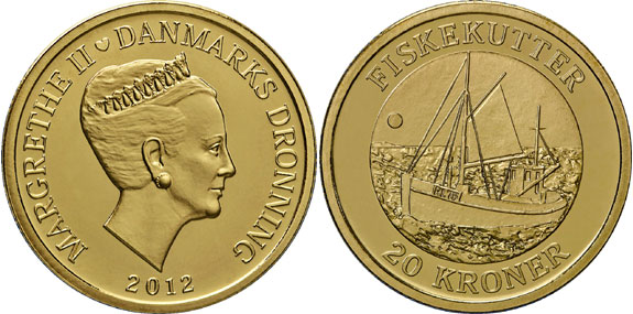 Fishing Vessel 20 Krone Coin
