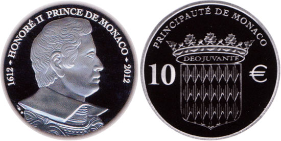 Prince Honore II Monaco Silver Coin