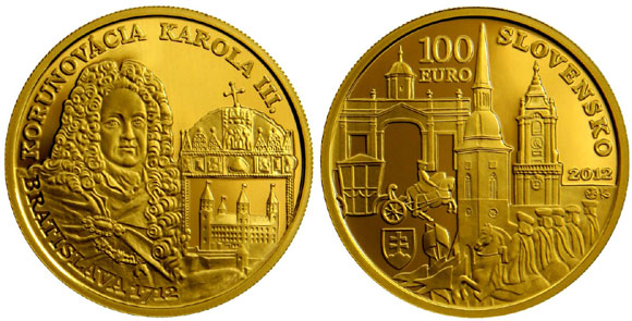 The Bratislava Coronations Series Charles III 100 Euro Gold Coin