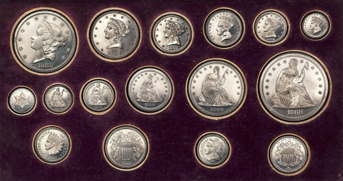 1868 Aluminum Pattern Proof Set