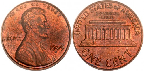 1969-S Double Die Lincoln Cent