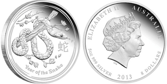 Year of the Snake 5 oz. Silver Proof Coin