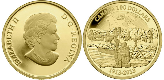 Canadian Arctic Expedition Gold Coin