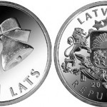 Latvia Issues 2012 Christmas Bells 1 Lats Coin
