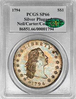 1794 Silver Dollar PCGS SP66