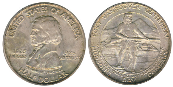 1925 Fort Vancouver Half Dollar