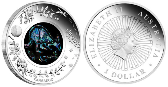 Australian Opal Series 2013 Kangaroo Silver Proof Coin