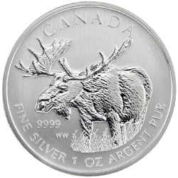 Canadian Moose Silver Bullion Coin