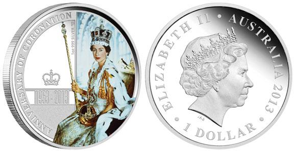 Queen Elizabeth II Coronation Silver Coin