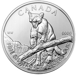 Canadian Cougar Silver Bullion Coin