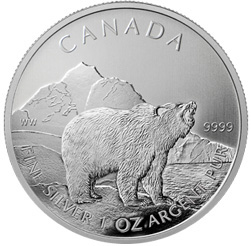Canadian Grizzly Silver Bullion Coin