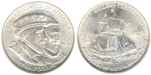 1924 Huguenot Walloon Tercentenary Half Dollar