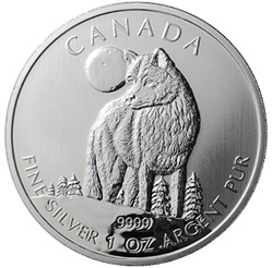 Timber Wolf Silver Bullion Coin