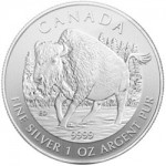 Final Design of Canadian Wildlife Silver Bullion Series Features Wood Bison