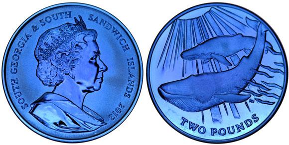Blue Titanium Coin