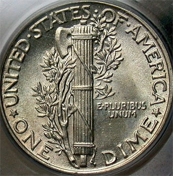 Full Bands Mercury Dime