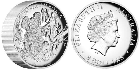 2013 High Relief Silver Koala