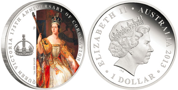 Queen Victoria Coronation Silver Coin