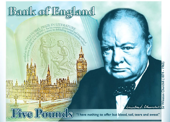 Winston Churchill 5 Pound Note